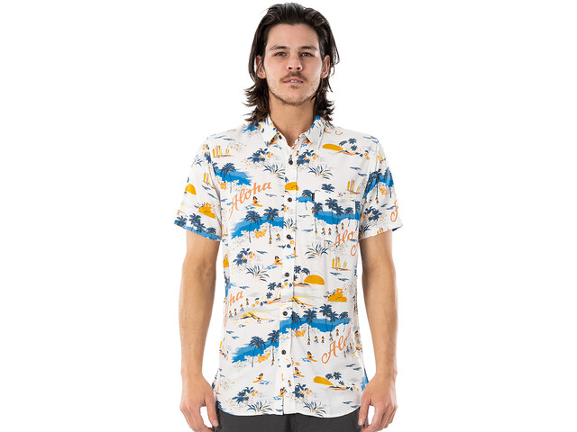 Rip Curl Hawaiian Short Sleeve Shirt Men, bone